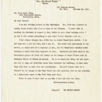 Letter from Ida Harper to Cora Smith King, 1/28/1921, page 1
