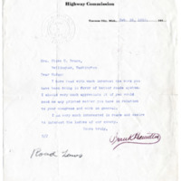 Letter from Frank Hamilton to Olive Bruce, 2/26/1912