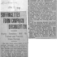 Page 005 : Suffragettes Form Campaign Organization: Stump Speakers Will Be Trained and Precinct Clubs Started