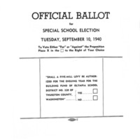 Page 002 : Official Ballot for special school election