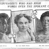 Page 020 : Women Suffragists Who Had High Words Over The Spokane Contest