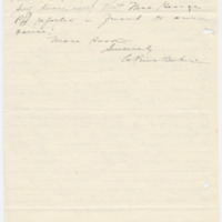 Letter from LaReine Baker to May Grinnell, 10/25/1908, page 5