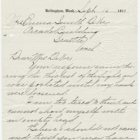 Letter from Mary Carpenter to Emma Smith DeVoe, 9/16/1910, page 1