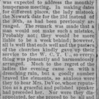 Page 13 : [news clipping: Emma DeVoe addresses monthly temperance meeting]