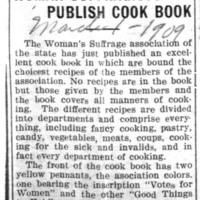 Page 032 : Woman Suffragists Publish Cook Book