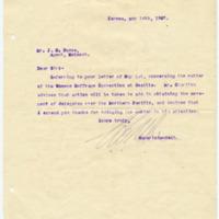 Letter from W. Albee to John H. DeVoe, 5/14/1907