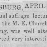 Page 30 : [news clipping: Emma Smith DeVoe in Gettysburg]