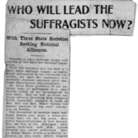 Page 028 : Who Will Lead the Suffragists Now?