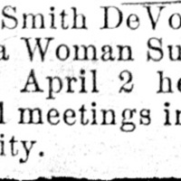 Page 007 : [news clipping: Emma Smith DeVoe holds 34 political equality meetings in Iowa]