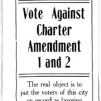 Page 297 : Tax Payer Notice : Vote Against Charter Amendment 1 and 2