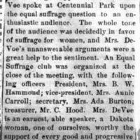 Page 36 : [news clipping: Emma Smith DeVoe at Centennial Park]