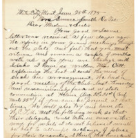 Letter from Wilder Nutting to Emma Smith DeVoe, 6/25/1895, page 1