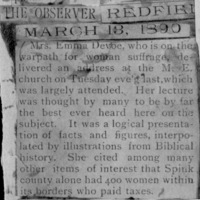 Page 27 : [news clipping: Emma Smith DeVoe on the warpath]
