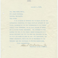 Letter from Frank Dallam Jr. to Emma Smith DeVoe, 1/5/1910, page 1