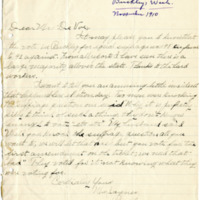 Letter from Mrs. Jaynes to Emma Smith DeVoe, 11/11/1910