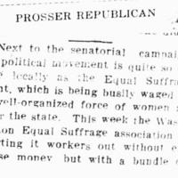 Page 017 : [Suffragists Most Active Political Movement, Save Senatorial Campaign]