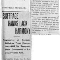 Page 006 : Suffrage Ranks Lack Harmony