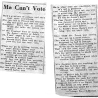 Page 143 : Ma Can't Vote