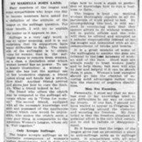 Page 165 : Woman's League Neutral Upon Suffrage Question