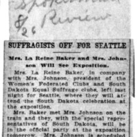 Page 146 : Suffragists Off for Seattle