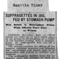 Page 171 : Suffragetes in Jail Fed by Stomach Pump