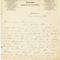 Letter from LaReine Baker to May Grinnell, [5/4/1908], page 1