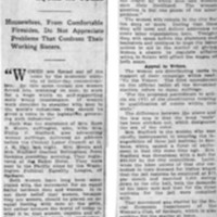 Page 083 : Women Forced Out of Homes by Commercialism: Speaker at Labor Council Says Weaker Sex Work for Wages No Man Would Countenance