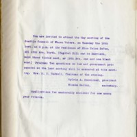 Page 267 : [Invitation to attend the May meeting of the Seattle Council of Women Voters]
