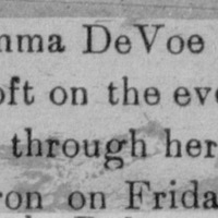 Page 25 : [news clipping: Emma Smith DeVoe passes through]