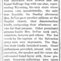 Page 008 : [news clipping: Review of Emma Smith DeVoe lectures at Chariton, Iowa]