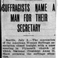 Page 090 : Suffragists Name a Man for their Secretary