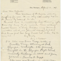 Letter from Sara Callow to Ellen Leckenby, 4/14/1909, page 1