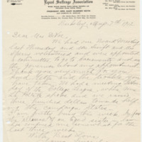 Letter from Mary Keith to Emma Smith DeVoe, 5/7/1912, page 1
