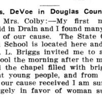 Page 093 : Mrs. DeVoe in Douglas County