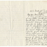 Letter from Abbie Danforth to Emma Smith DeVoe, 8/8/1910, page 1