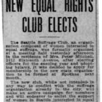Page 171 : New Equal Rights Club Elects