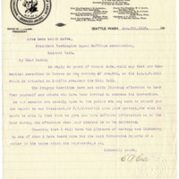 Letter from Charles Case to Emma Smith DeVoe, 1/6/1908, page 1