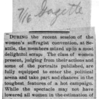 Page 110 : [news clipping: Women Not Elevated in Estimation]