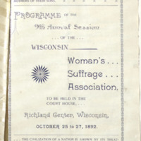 Page 081 : Programme of the 9th Annual Session of the Wisconsin Woman's Suffrage Association