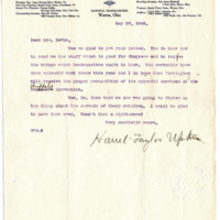 Letter from Harriet Upton to Emma Smith DeVoe, 5/26/1908, page 1