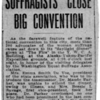 Page 114 : Suffragists Close Big Convention