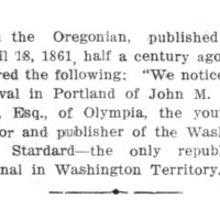 Page 134 : [In the Oregonian, april 18, 1861]