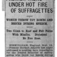 Page 167 : Premier Talks Under Hot Fire of Suffragettes