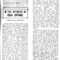 Page 111 : In the interest of equal suffrage (conducted by the club)