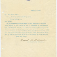 Letter from Frank Dallam Jr. to Emma Smith DeVoe, 8/4/1908, page 1