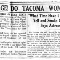 """Page 141 : """"What Time Have I to Vote, Yell and Smoke Cigarets?"""" Says Actress May Robson"""