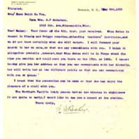 Letter from W. Baker to Emma DeVoe, 5/8/1895, page 1
