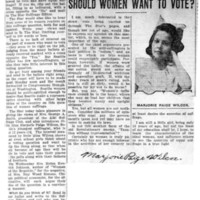 Page 119 : Should Women Want To Vote?