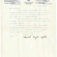 Letter from Harriet Upton to Emma Smith DeVoe, 3/19/1908, page 1