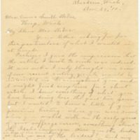 Letter from Ida A. Allen to Emma Smith DeVoe, 12/23/1910, page 1